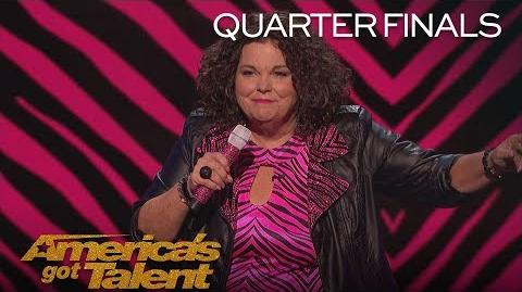 Vicki Barbolak Hilarious Comedian Chats About Being 'Trailer Nasty' - America's Got Talent 2018
