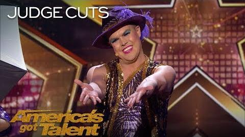 "Hans German Brings ""It's Raining Men"" Extravaganza To America - America's Got Talent 2018"