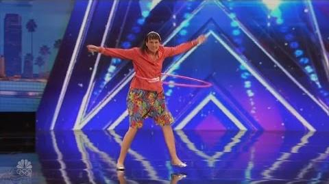 America's Got Talent 2016 Diane Barnard Crazy Dancing Hooper Full Audition Clip S11E03