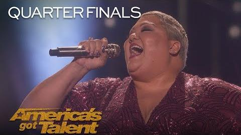 "Christina Wells Singer Performs Emotional Cover Of ""I Am Changing"" - America's Got Talent 2018"