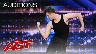Lewis Shilvock Brings Freddie Mercury Confidence By Dancing To Queen! - America's Got Talent 2020-0