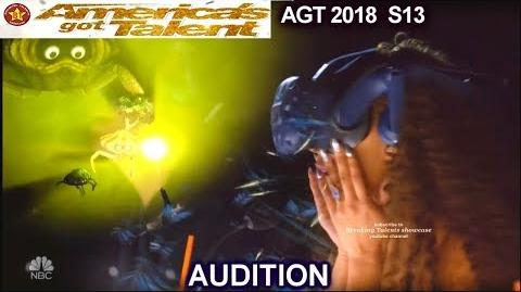 Storynest Virtual Reality Act JUDGES WATCH WEARING GOGGLES America's Got Talent 2018 Audition AGT