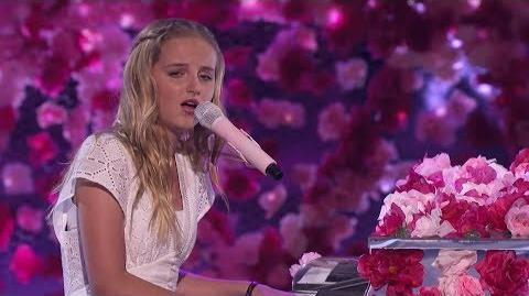 America's Got Talent 2017 SemiFinals Evie Clair Performance & Comments S12E19