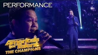 "Marcelito Pomoy Sings ""Beauty And The Beast"" With DUAL VOICES! - America's Got Talent The Champions"