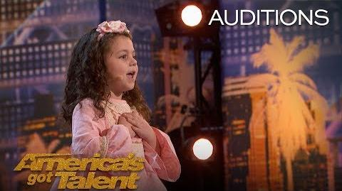 Sophie Fatu Adorable 5-Year-Old Sings Throwback Tune - America's Got Talent 2018