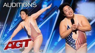 Yuriyan Retriever Teaches Simon Cowell How To Dance! - America's Got Talent 2019