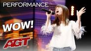 13-Year-Old Charlotte Summers Shocks You With Powerful Vocals - America's Got Talent 2019