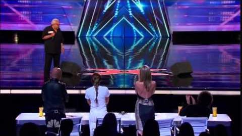 America's Got Talent 2014 Frank The Singer Sings Frank Sintra Auditions 5