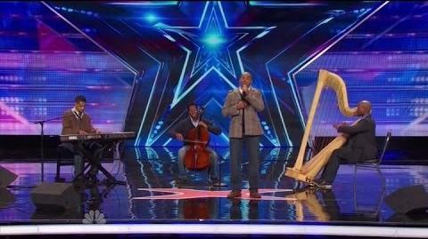 "America's Got Talent S09E03 Sons of Serendip sing ""Somewhere Only We Know"" by Keane"