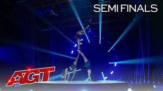 OMG! Bello Sisters Turn Up The Heat With BLINDFOLDED Acrobatics - America's Got Talent 2020