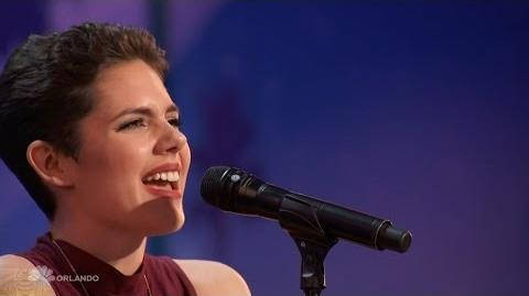 Americas Got Talent 2016 Calysta Bevier Emotional Songstress Full Audition Clip TonyPatrony