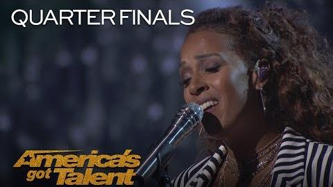 """Glennis Grace Incredible Singer Dazzles The Crowd With """"Never Enough"""" - America's Got Talent 2018"""