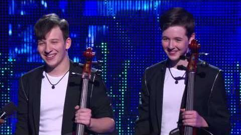 America's Got Talent S09E16 Quarterfinal Round 4 Emil & Dariel Rock Cellists