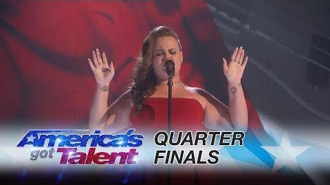 "Yoli Mayor Singer Slays Epic Rendition of ""Human"" - America's Got Talent 2017"