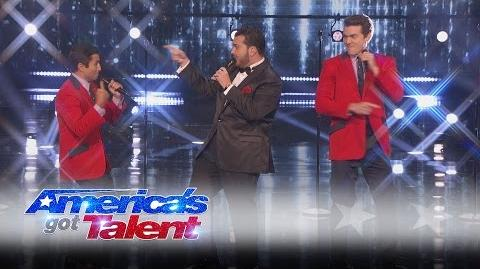 Sal Valentinetti & Jersey Boys Guys Sing Old-School Four Seasons Tune - America's Got Talent 2016