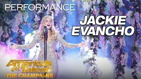 "Jackie Evancho Performs ""Music of the Night"" Flawlessly - America's Got Talent The Champions"