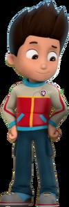 Ryder con chaqueta hitech