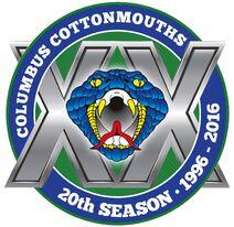 Columbus Cottonmouths 20th season logo