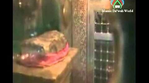 Blood dripping out from the Stone Where Imam Hussain's Head Was Kept-1407140108