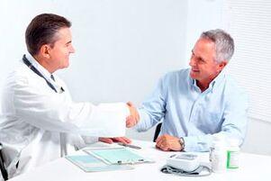 Conversa medico e paciente