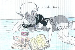Ved lith meeren in study time by elfooscuro-d4j7gb9