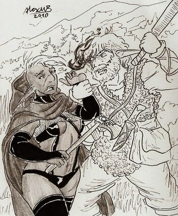 Mountain elf and drow by shabazik-d35msxo