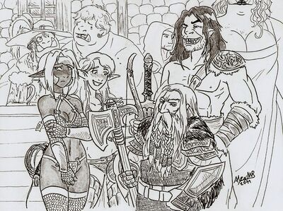 The adventure party by shabazik-d49iukn