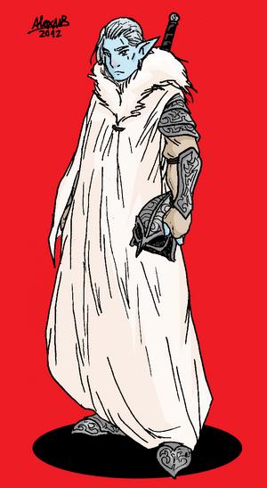 Elf Ice elf warrior color