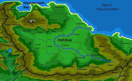 Crop Polf map of the continent of aels by shabazik