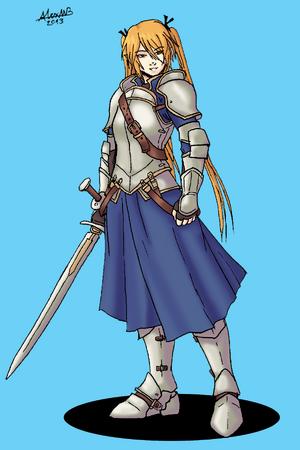 Half elf fencer of valkny by shabazik-d6xw8p4