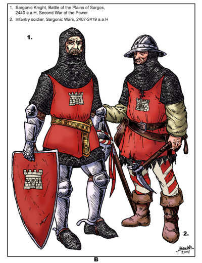 Aels - Sargonic soldiers of the XXV Century COLOR