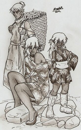 Drow commoners by shabazik-d5nq4vf