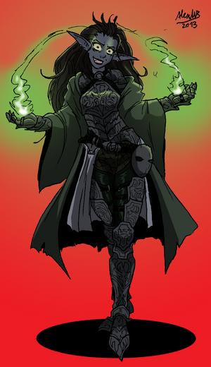 Elf war witch by shabazik-d5thgrc