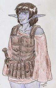 Dark Elf militia by Shabazik