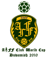 The logo of the 2010 AIFF Club World Cup.