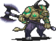 Green Minotaur Sprite