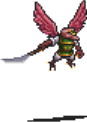 Red Warrior Tengu Sprite