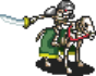 Green Skeleton Cavalry Sprite