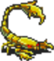 Golden Scorpion Sprite