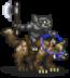 Black Goblin Wolf Rider Sprite