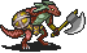 Desert Lizard Axethrower Sprite