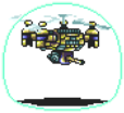 Gold Flying Droid Sprite