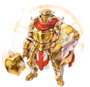 Ultimate Gold Armor Render