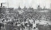 Embarquement des troupes a Alger en 1914