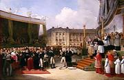 Beaume - Inauguration du monument a la memoire de Louis XVI par Charles X