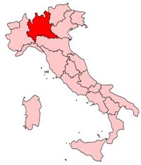 Italy Regions Lombardy Map