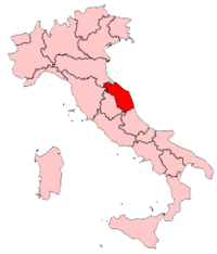 Italy Regions Marche Map