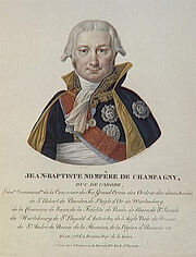 Velyn - Jean-Baptiste Nompère de Champagny, duc de Cadore, né en 1756 à Roanne