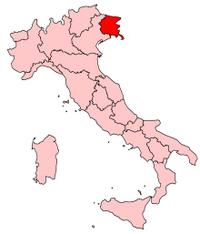 Italy Regions Friuli-Venezia Giulia Map