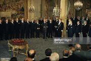 Valery Giscard d'Estaing on the day of his investiture as French President at the Elysee Palace